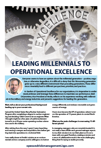 Leading Millennials to Operational Excellence