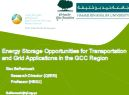 Energy storage opportunities in the GCC region, presented by Dr. Ilias Belharouak, Research Director, Qatar Environment and Energy Research Institute (QEERI)