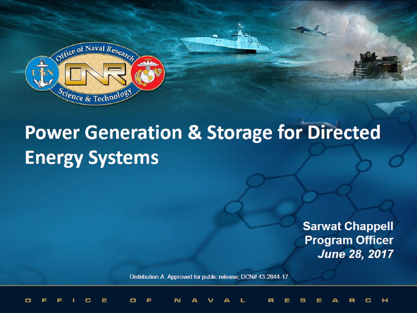 Power Generation and Storage Solutions for Directed Energy Systems