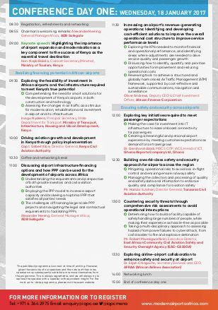 3-day agenda at-a-glance