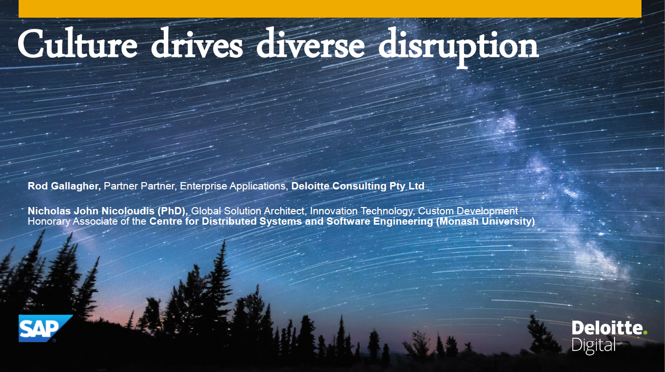 Driving Diverse Disruption with Culture