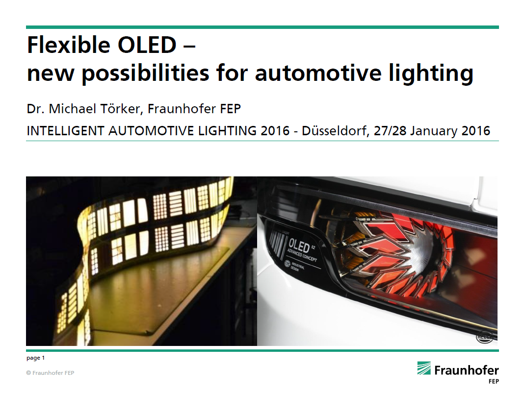 Presentation on Flexible OLED