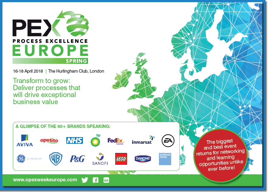 Download the FULL Process Excellence Europe Spring 2018 agenda!