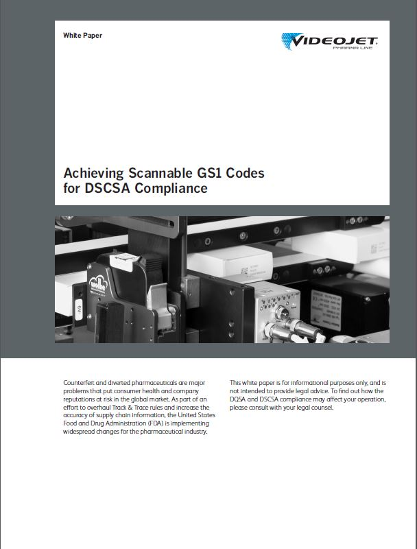 Achieving Scannable GS1 Codes for DSCSA Compliance