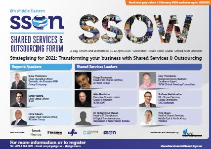 6th Middle Eastern Shared Services and Outsourcing Forum - Agenda