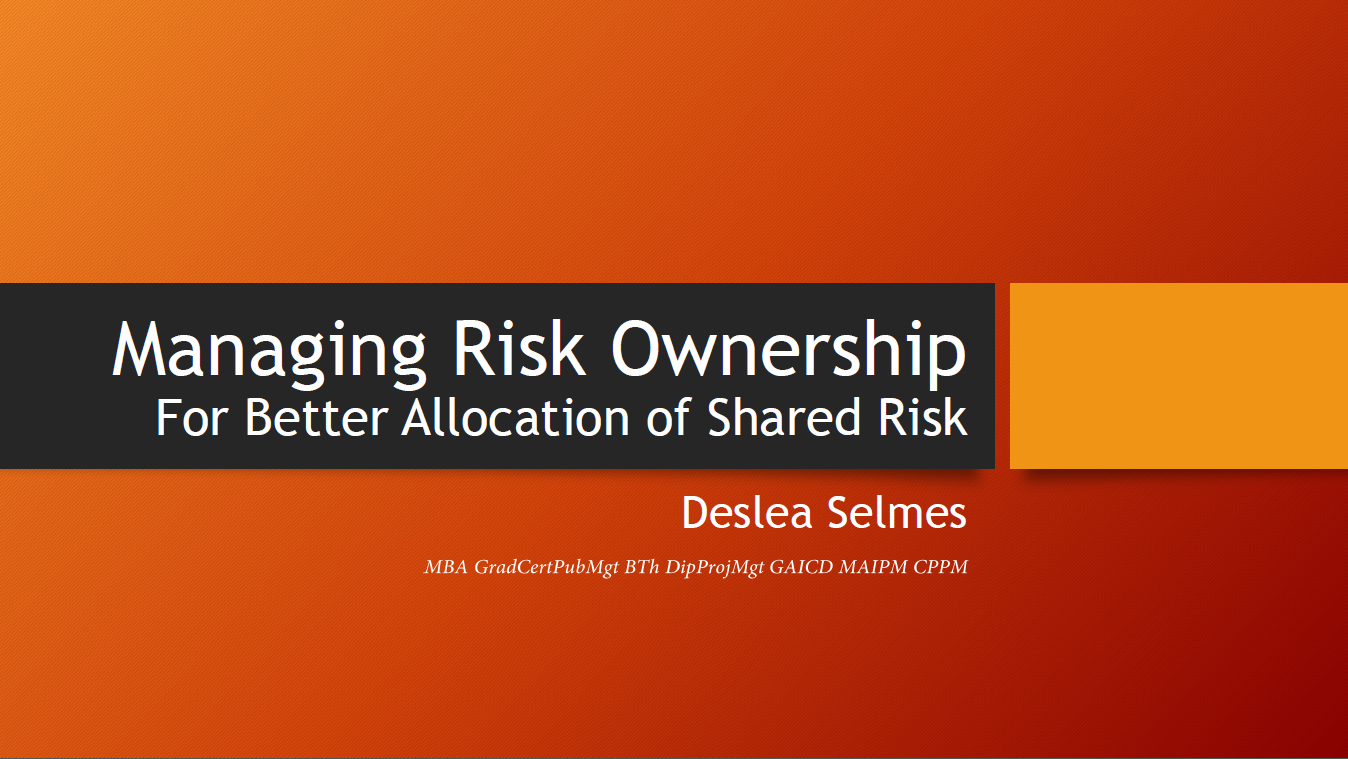 Managing Risk Ownership For Better Allocation of Shared Risk