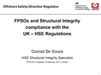 FPSOs and Structural Integrity compliance with the UK - HSE Regulations