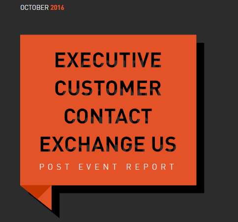 Executive Customer Contact Exchnage 2016 Post Event Report