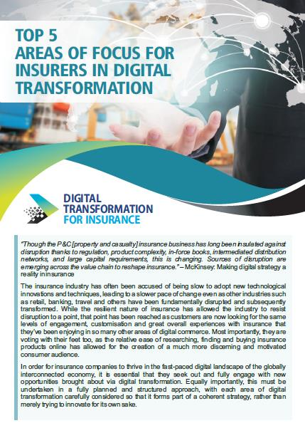 Top 5 Areas of Focus for Insurers in Digital Transformation