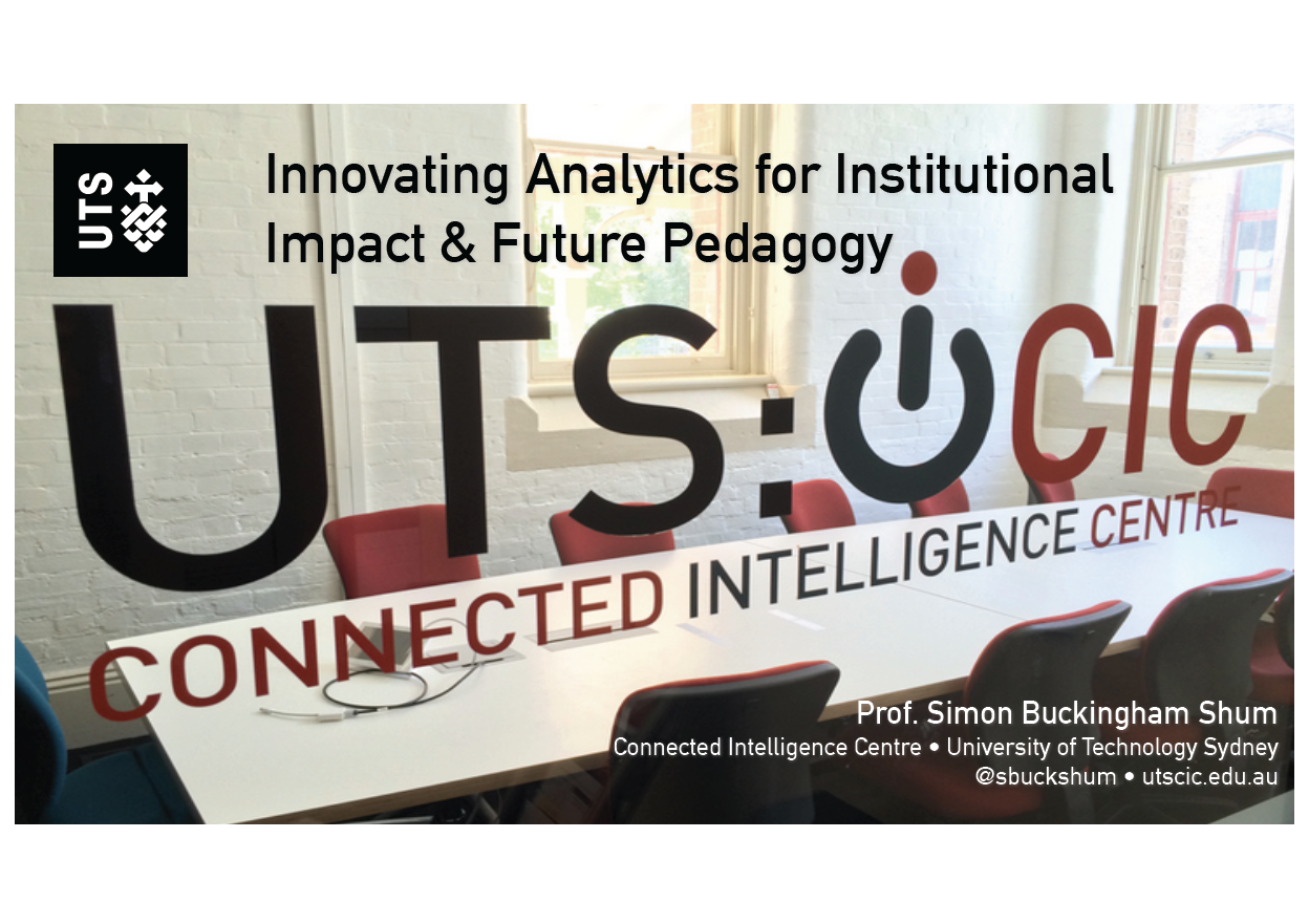 Innovating Analytics for Institutional Impact & Future Pedagogy