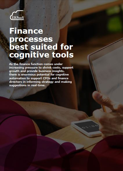 Finance processes best suited for cognitive tools