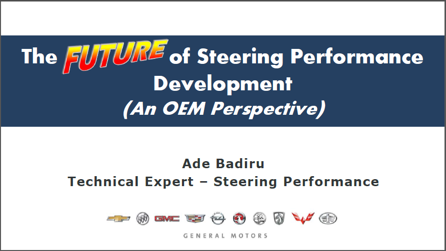 The future of steering performance development (an OEM perspectives)