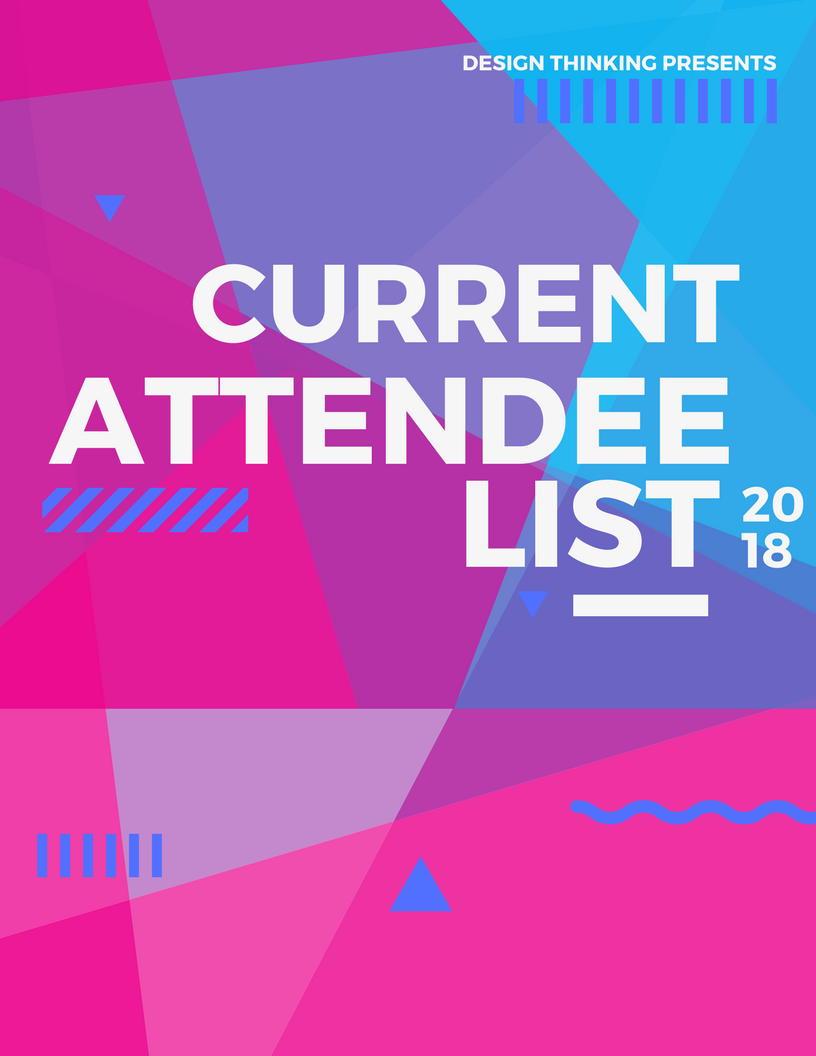 Design Thinking Current Attendee List