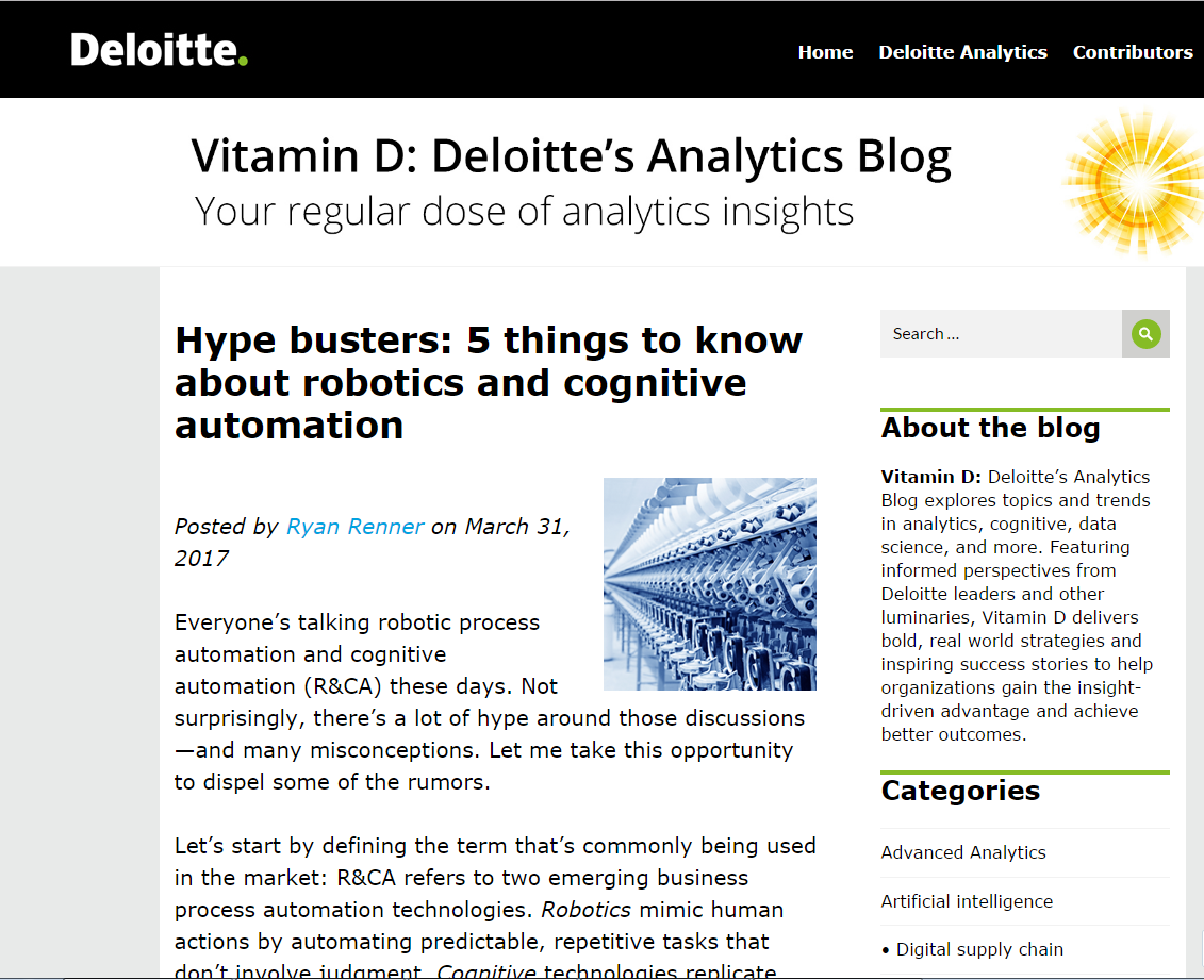 Hype busters: 5 things to know about robotics and cognitive automation