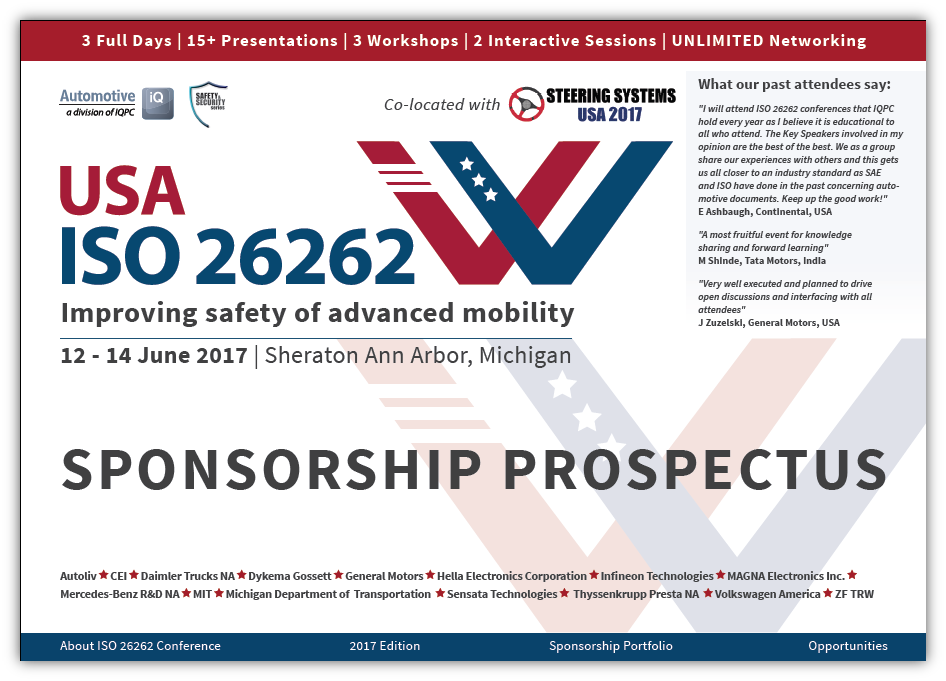 ISO 26262 Sponsorship Prospectus