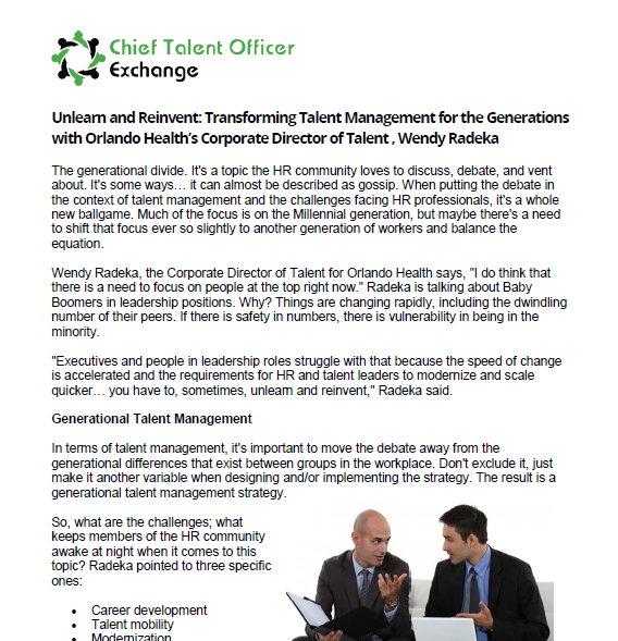 Unlearn and Reinvent: Transforming Talent Management for the Generations with Orlando Health's Corporate Director of Talent