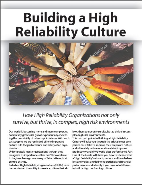 Building a High Reliability Culture - Part 1