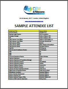 Attendee List 2017