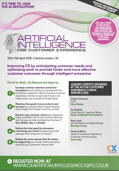 Customer Experience for AI Agenda