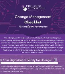 Intelligent Automation Change Management Checklist