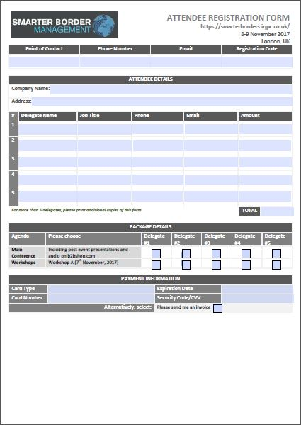 Attendee Registration Form