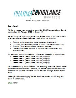 Dear Boss Letter - 2018 Pharmacovigilance Summit