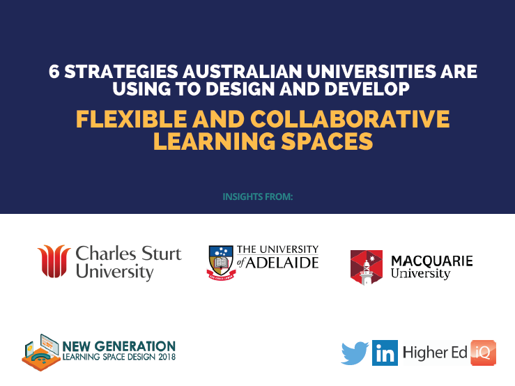 6 strategies Australian Universities are using to design and develop collaborative and flexible learning spaces