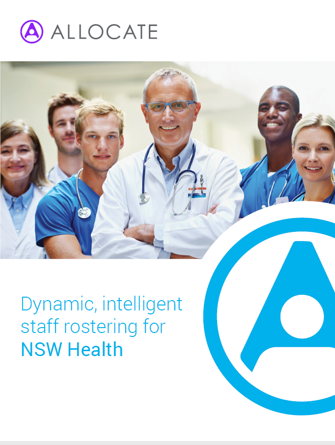 Dynamic, intelligent staff rostering for NSW Health