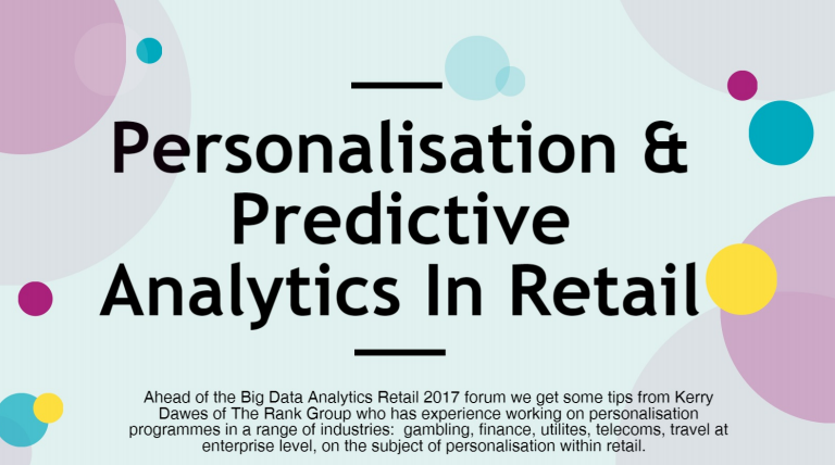 Personalisation & Predictive Analytics In Retail Infographic