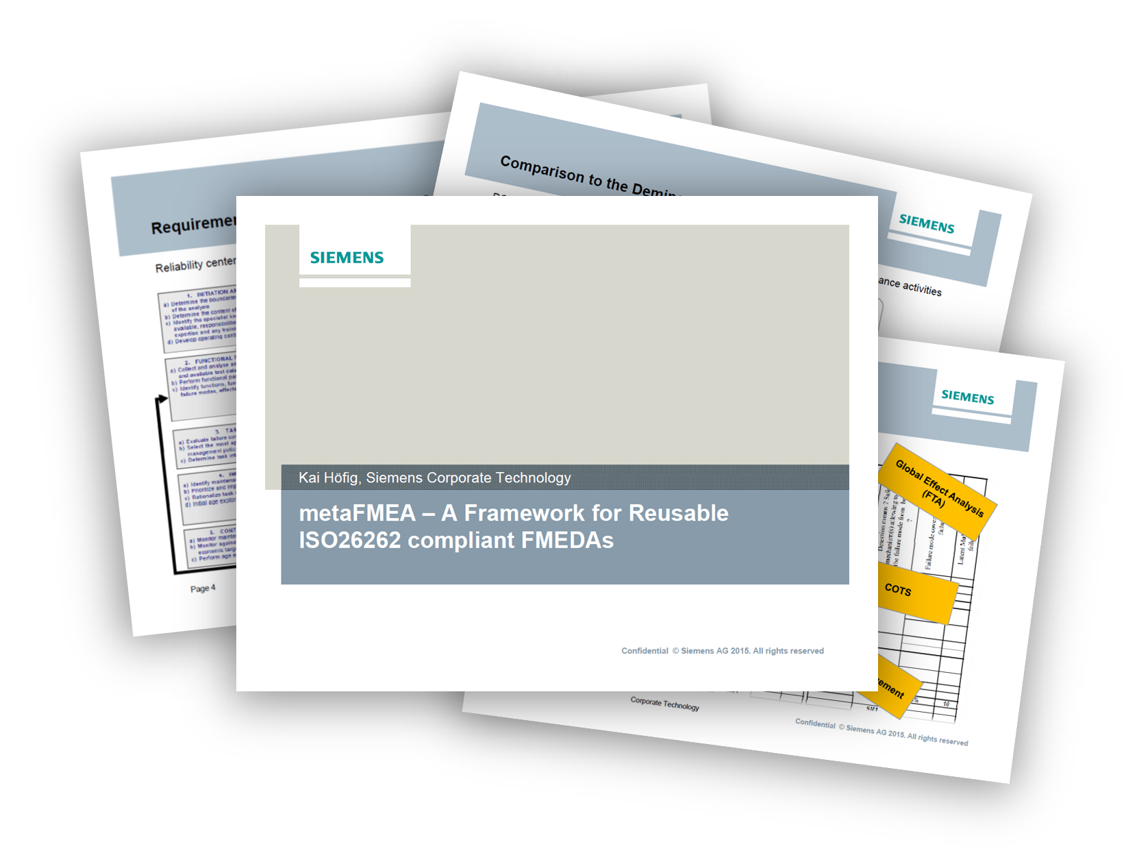 Siemens presents Framework for Reusable ISO 26262 compliant FMEDAs