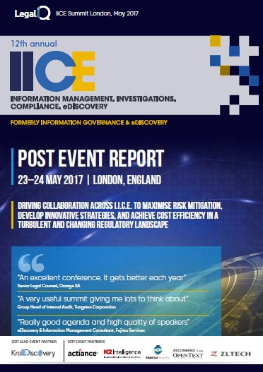 2017 IICE Post Event Report