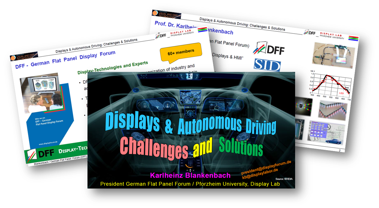 Displays & Autonomous Driving - Challenges and Solutions
