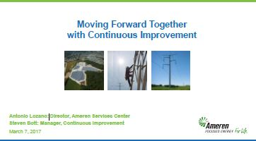 Moving Forward Together with Continuous Improvement
