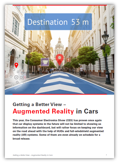 Getting a Better View: Augmented Reality in Cars