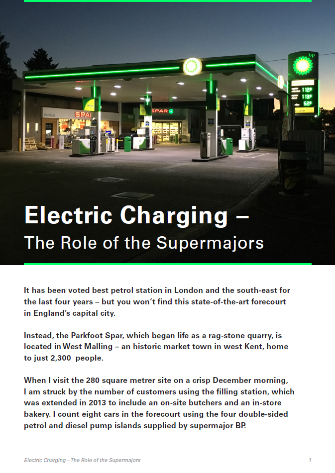 Electric Charging - The Role of the Supermajors