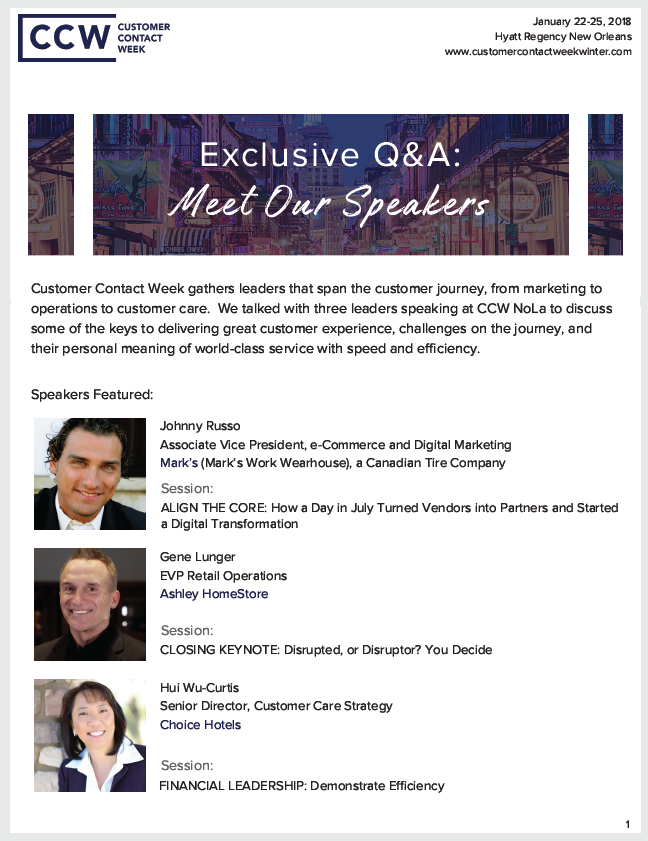 Exclusive Q&A: Meet Our Speakers