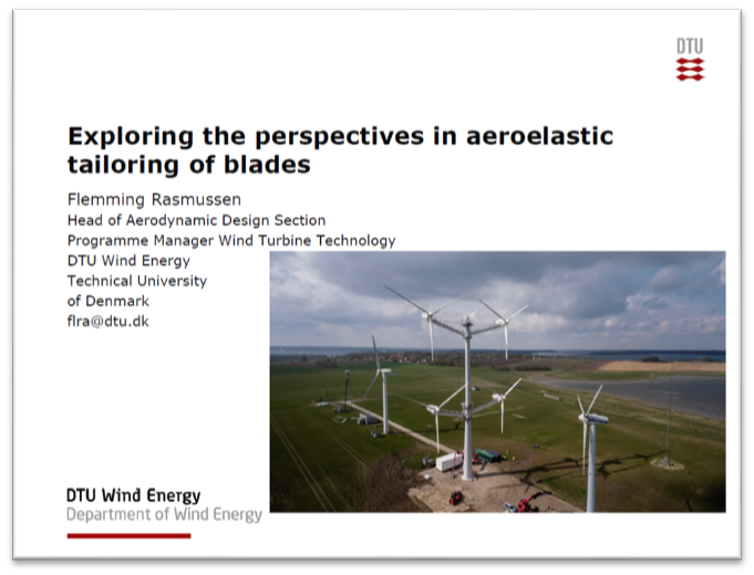 Exploring the perspectives in aeroelastic tailoring of blades - DTU Presentation