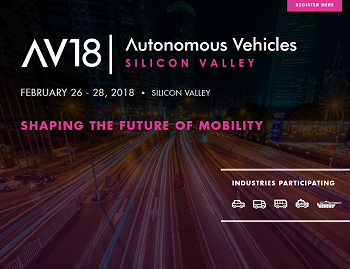 Autonomous Vehicles Silicon Valley 2018 - Agenda