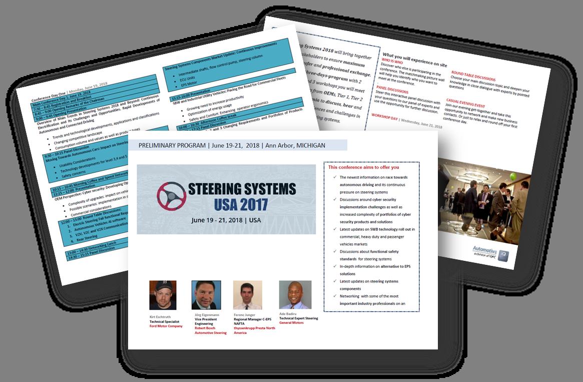 Agenda Steering Systems USA 2018