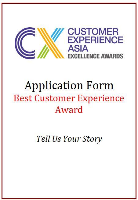 CEM AwardApplication Form - Best Customer Experience Award