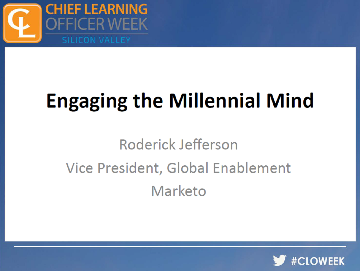 Engaging the Millennial Mind