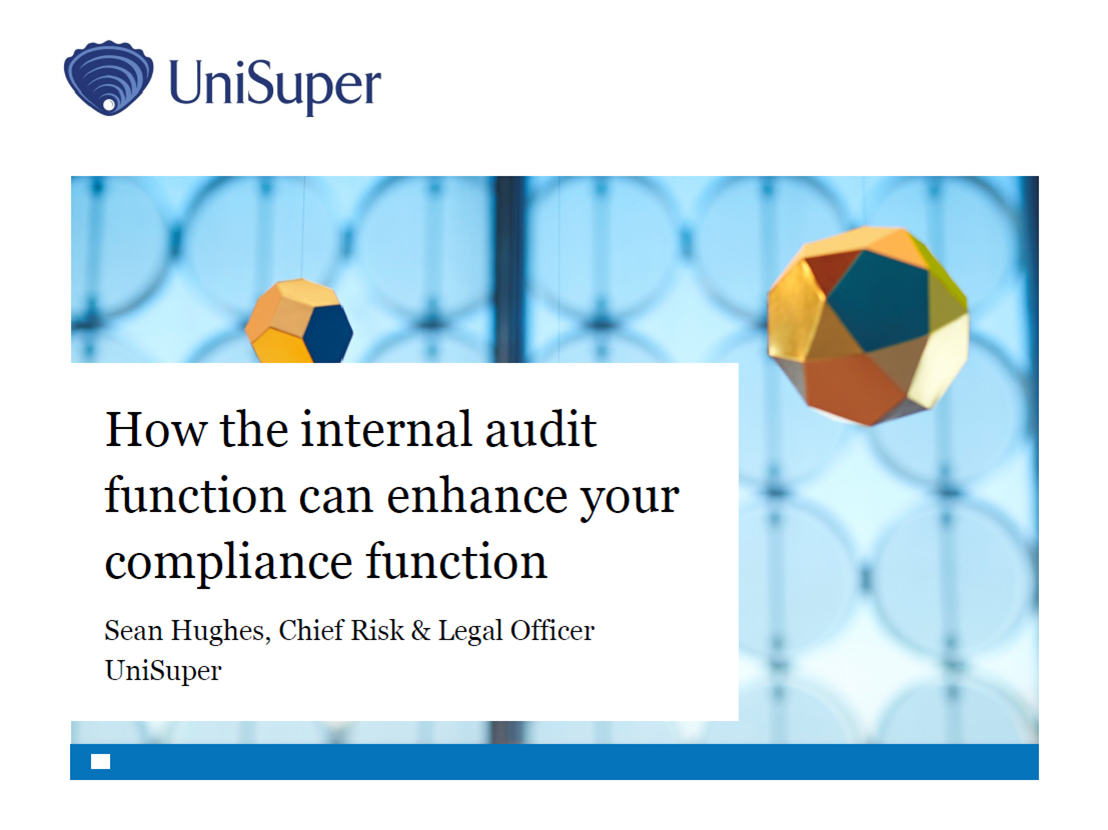 How the Internal Audit Function Can Enhance your Compliance Function