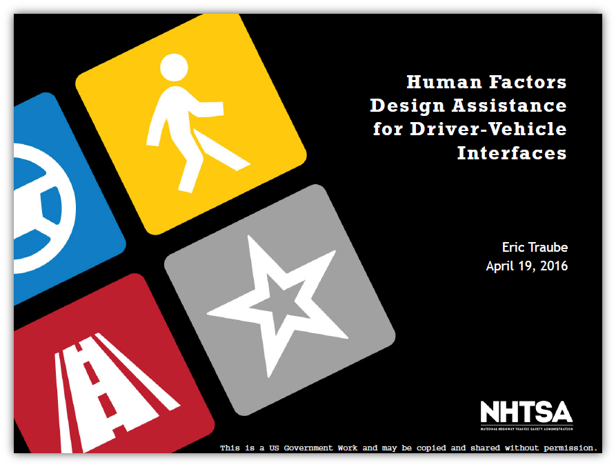 Human Factors Design Assistance for DVI