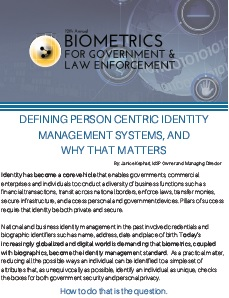 Defining Person Centric Identity Management Systems - Why it Matters