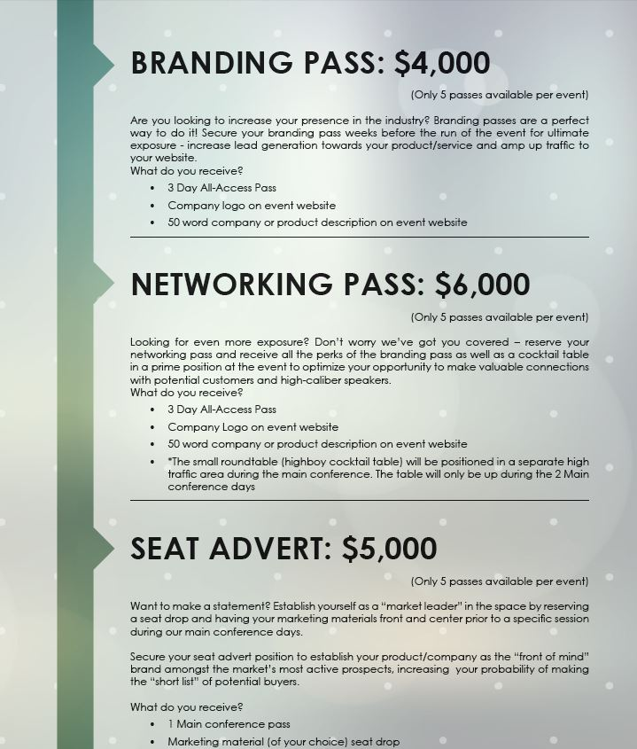 Networking and Branding Passes | 13th Compound and Sample Management Summit
