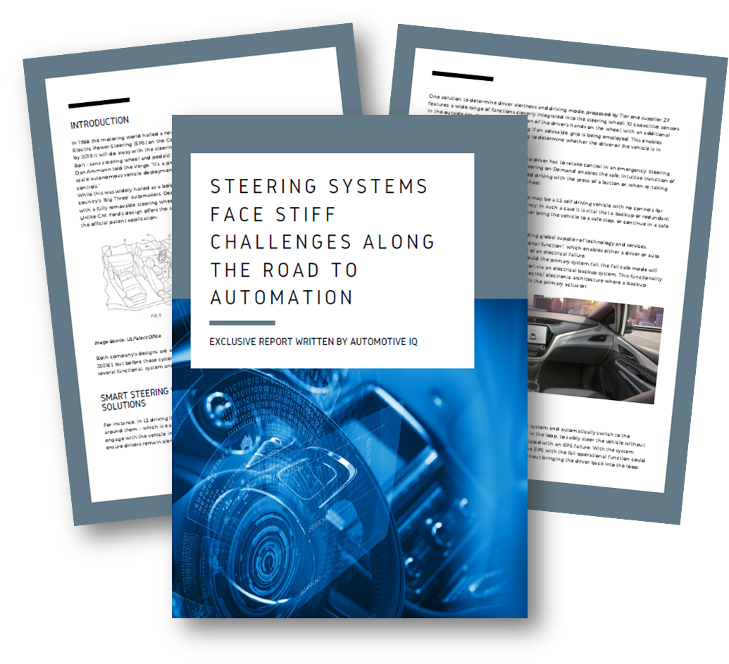 Steering Systems face stiff challenges along the road to automation
