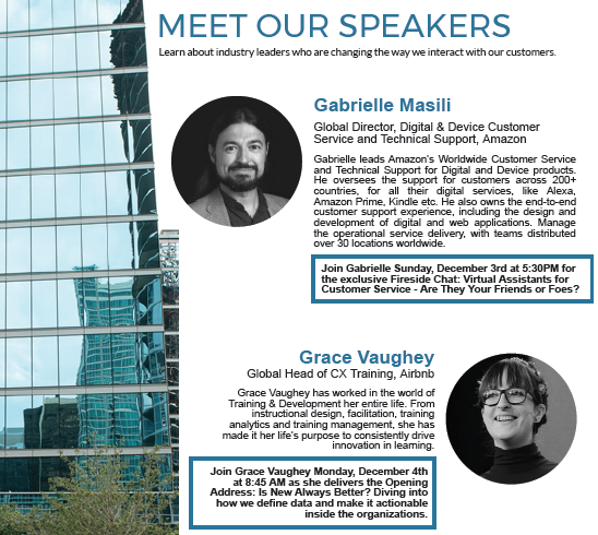 Meet the Speakers from December