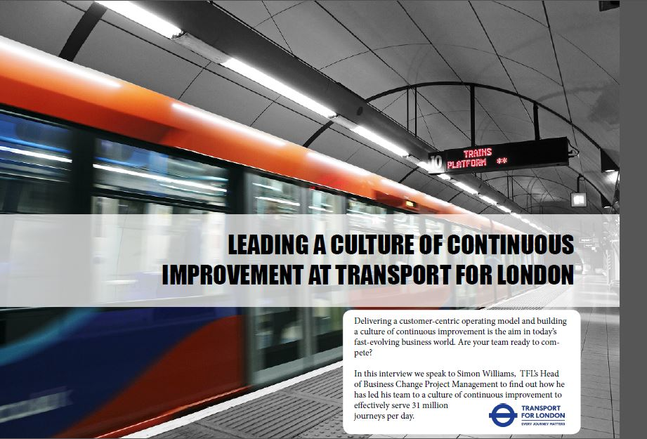 Leading a Culture of Continuous Improvement at Transport for London