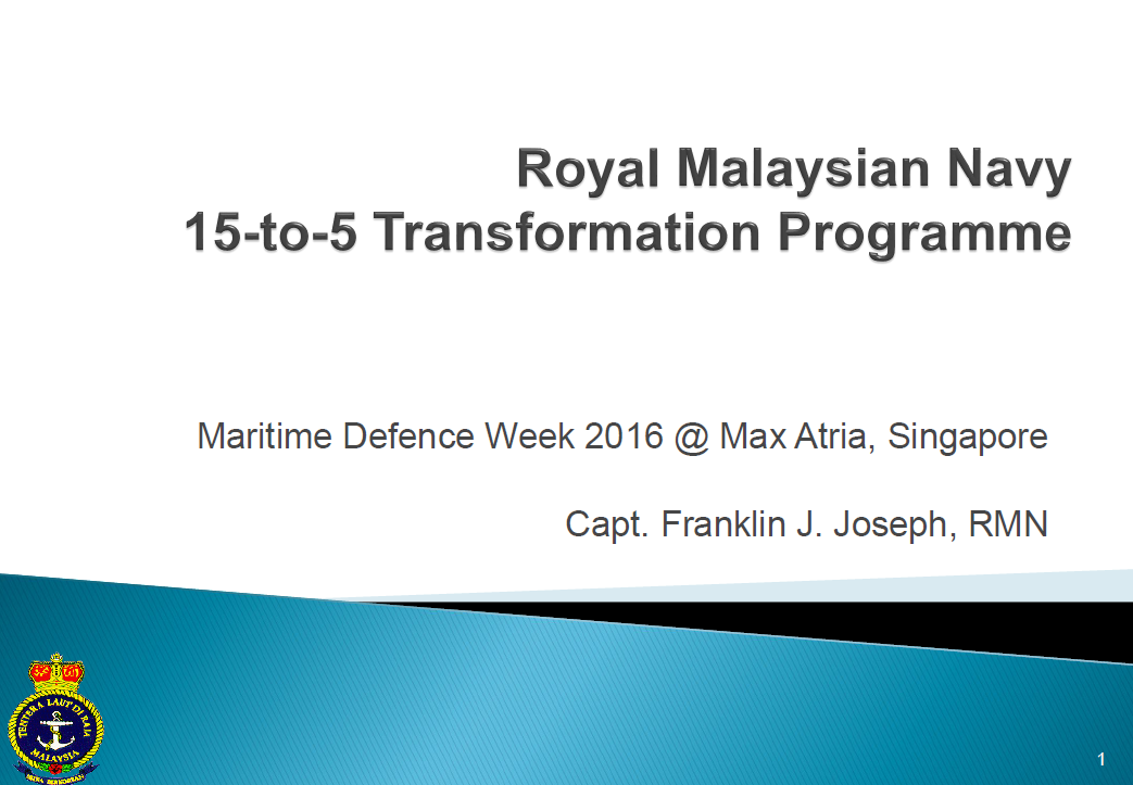 Royal Malaysian Navy 15-to-5 Transformation Programme