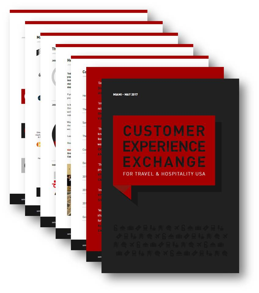Customer Experience Exchange for Travel & Hospitality Post Event Report 2017